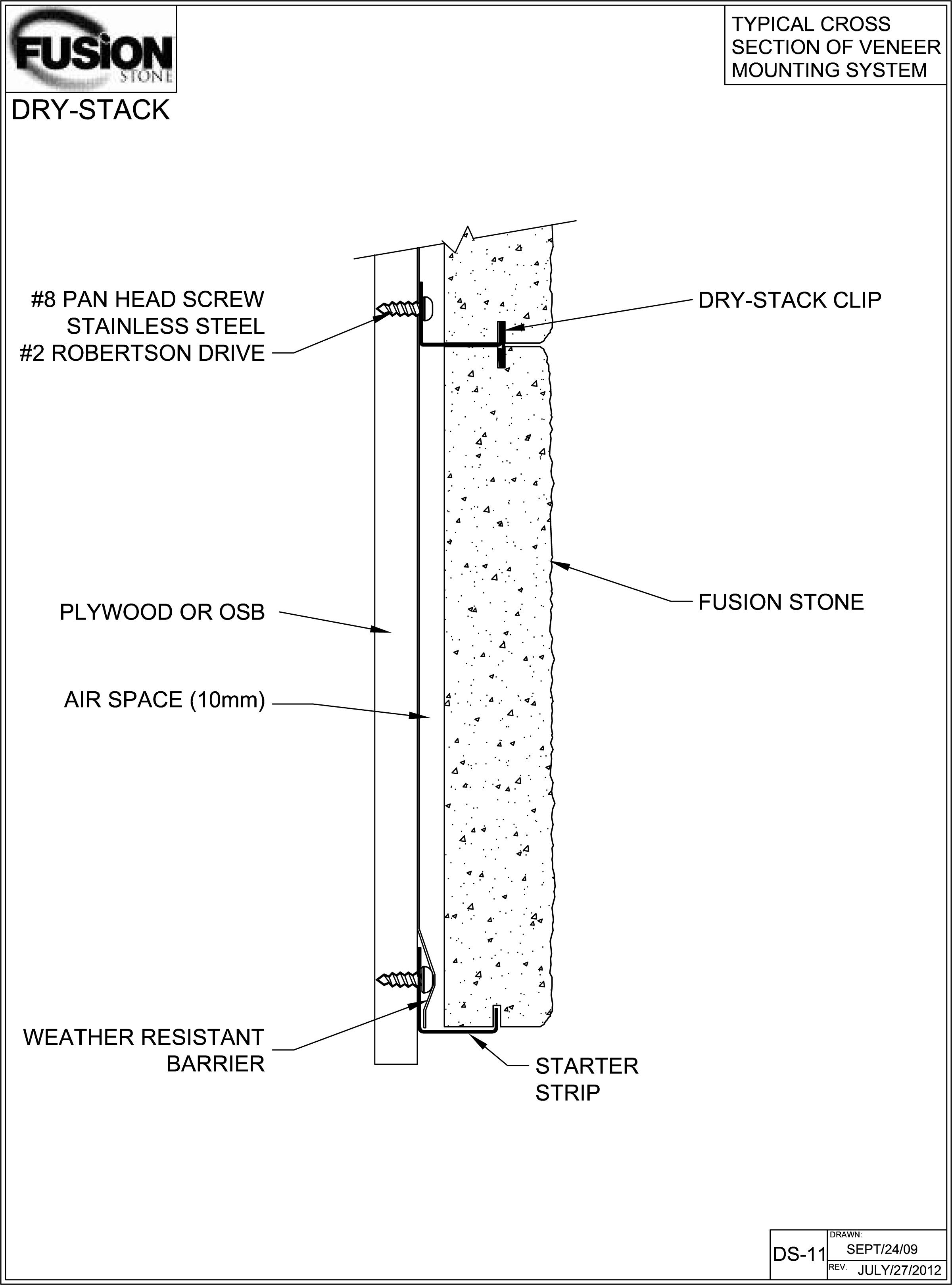Stone Veneer Details : Detailed diy stone veneer installation drawings fusion