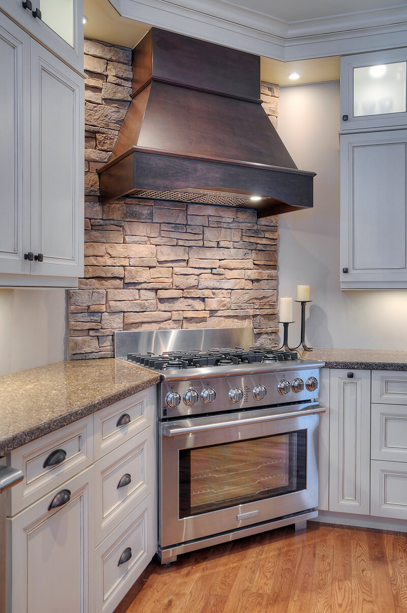 Rock Backsplash Kitchen Interior Stone Veneer Diy Project Ideas Fusion Stone