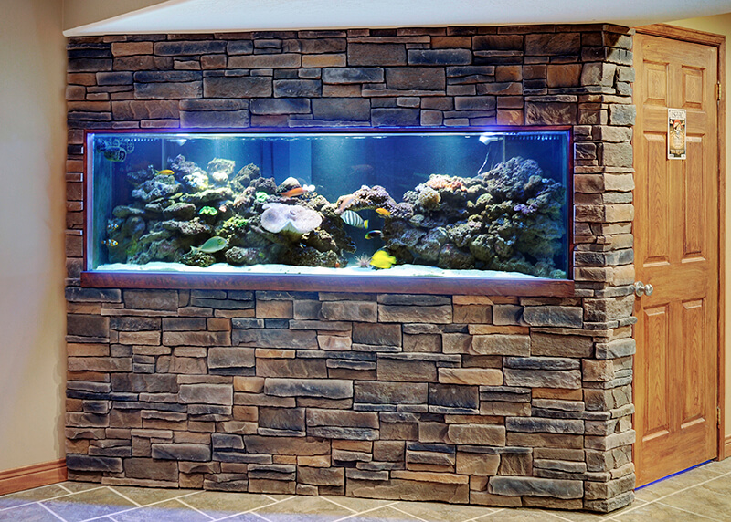 brindle great lakes stone veneer feature wall